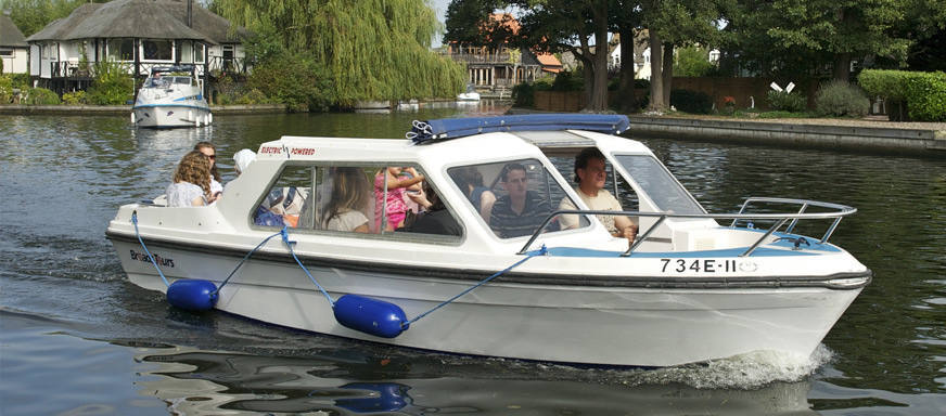 electric day boat hire norfolk broads