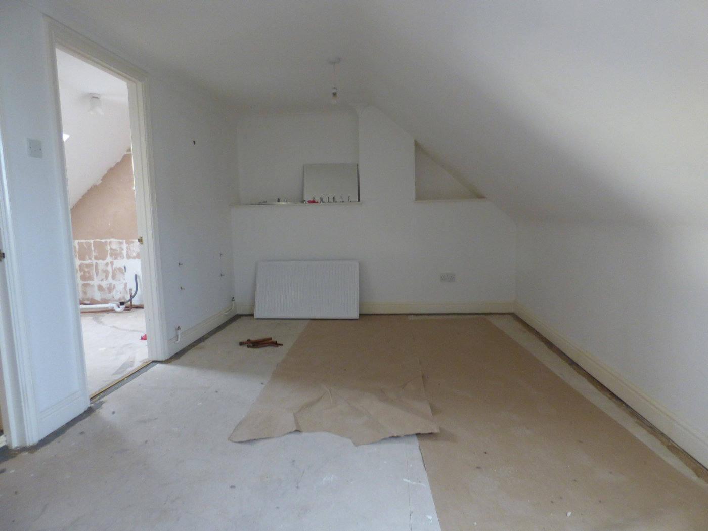 Master bedroom looking to en suite