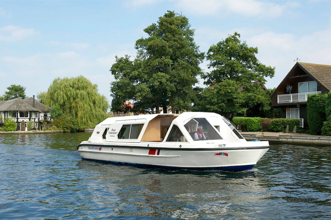 fair viscount boat hire norfolk broads