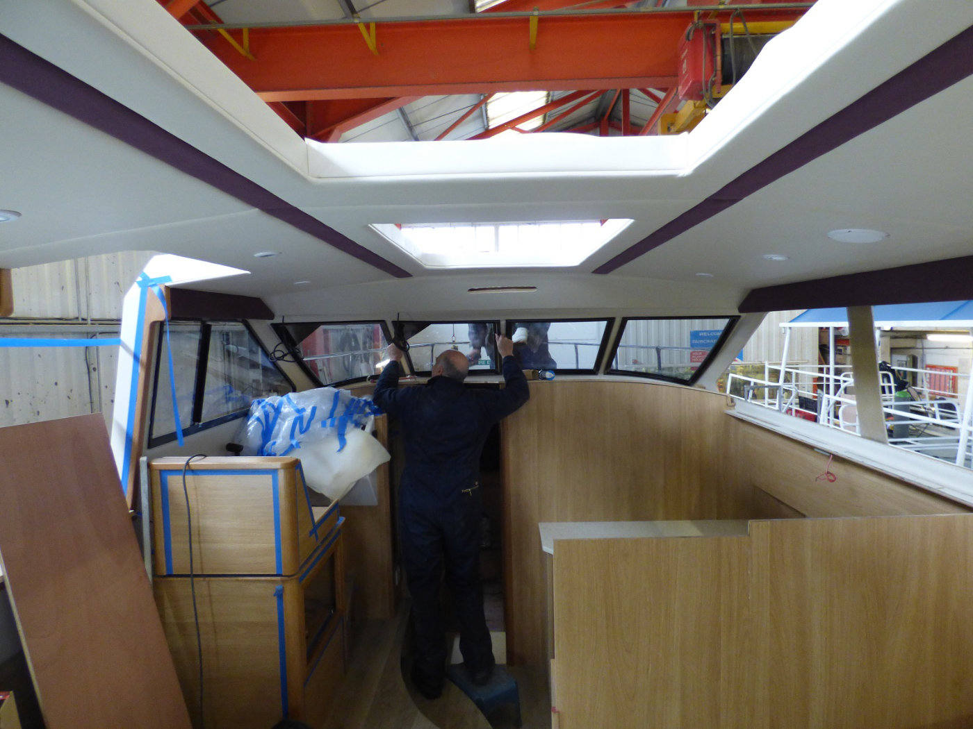 Saloon being fitted