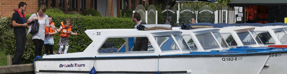 Day Boat Hire on the Broads