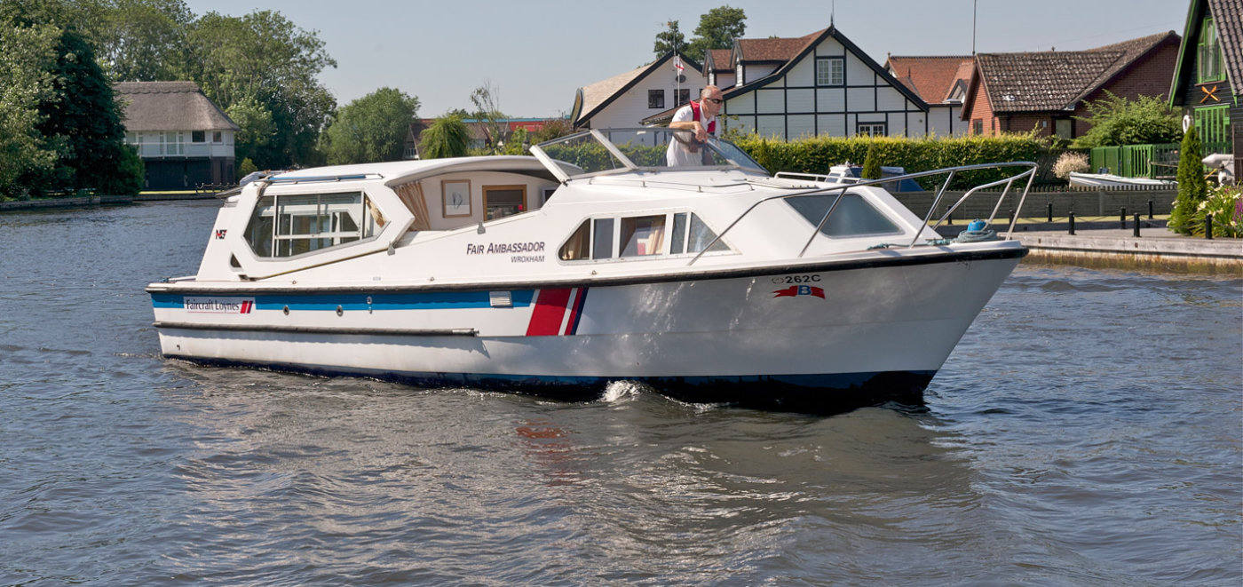 norfolk broads boating holidays on fair ambassador