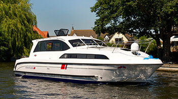 A Norfolk Broads boat for hire