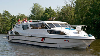 A cruiser for boating holidays on the Broads